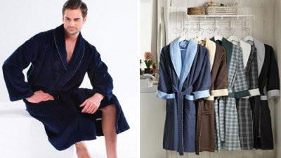 Мужские банные халаты