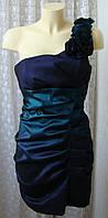 Платье женское коктейльное модное элегантное мини бренд Izabel р.48 6382а