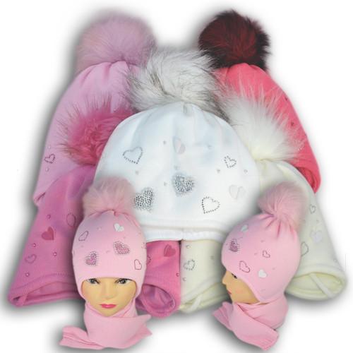 Комплект (шапка + шарф) Польского производителя Ambra с подкладкой ISO SOFT, модель А3