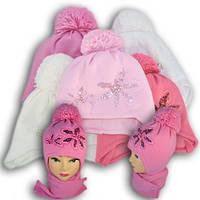 Комплект (шапка + шарф) Польского производителя Ambra с подкладкой ISO SOFT, модель А31