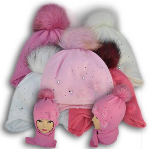 Комплект (шапка + шарф) Польского производителя Ambra с подкладкой ISO SOFT, модель А43  В наличииТолько оптомКод: A43