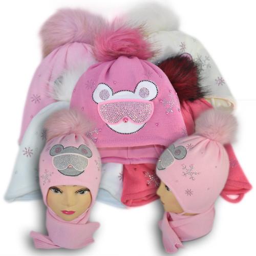 Комплект (шапка + шарф) Польского производителя Ambra с подкладкой ISO SOFT, модель А19
