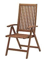 Садовое кресло многопозиционное из хардвуда  (твердое дерево) 62х58 см