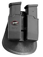 Подсумок Fobus для двух магазинов Glock 17/19, с поясным фиксатором, поворотный