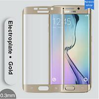 Защитное стекло для Samsung Galaxy S6 edge - HPG Tempered glass 0.3 mm (с закругленными краями), золотой