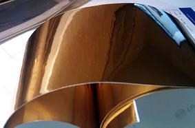 Глянцевая пленка зеркальная Хром золото