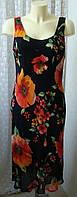 Платье женское летнее легкое модное яркое вискоза миди р.50 6383а от Chek-Anka