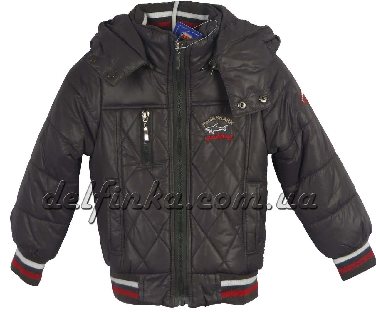 Куртка, для мальчика, теплая, на флисе, 1-4 лет цвет серый, фото 1