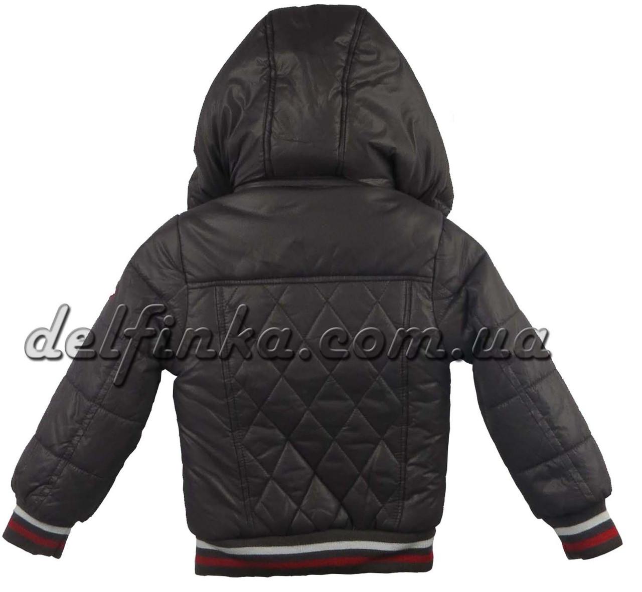 Куртка, для мальчика, теплая, на флисе, 1-4 лет цвет серый, фото 2
