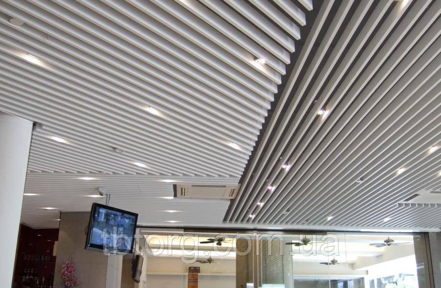 Прайс на монтаж реечного потолка