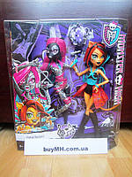 Набор Монстер хай Кэтти Нуар  и Торалей Лютые рокеры Monster High Fierce Rockers Catty Noir and Toralei
