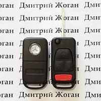 Выкидной авто ключ для MERCEDES (Мерседес) корпус 3 - кнопки + 1 паника, лезвие HU64