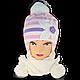 Комплект (шапка + шарф) для девочки, Польского производителя Ambra, модель Аm6, фото 3