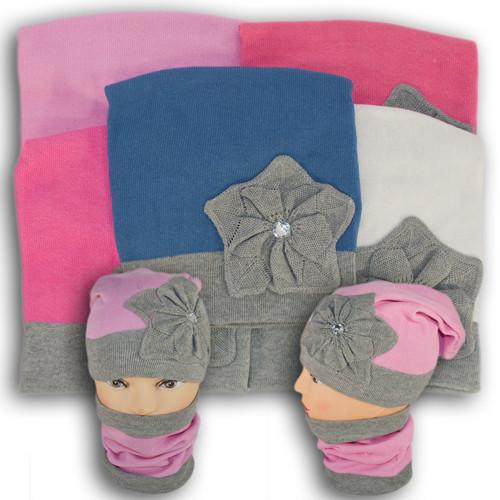 Шапочка и шарф (баф) для девочек, Польского производителя Anpa, модель KT4