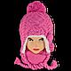 Комплект (шапка + шарф) Польского производителя Ambra, модель Аm 7, фото 2