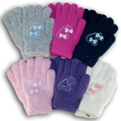 Детские перчатки из шерсти, для девочек
