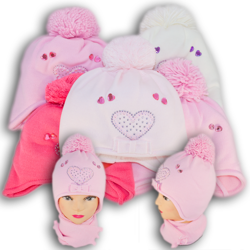 Комплект (шапка + шарф) Польского производителя Ambra с подкладкой ISO SOFT, модель Аm 8