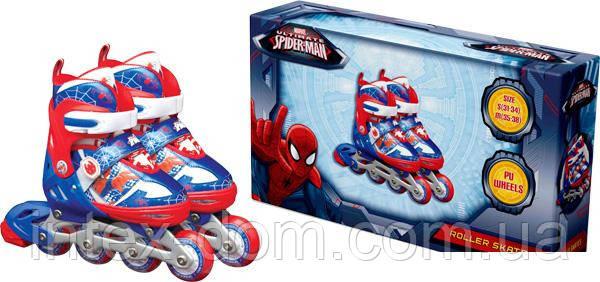 Роликовые коньки Disney Marvel Spider Man S (31-34) c металлической рамой (RS0109)
