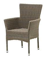 Садовое кресло из стали и искусственного ротанга