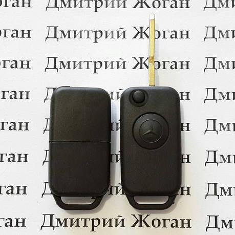 Выкидной ключ для MERCEDES W124, W140 (Мерседес) корпус 1 - кнопка, лезвие HU39, фото 2