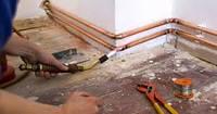 Прокладка медных труб водоснабжения