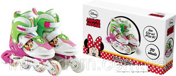 Роликовые коньки Disney Minnie Mouse M (34-37) c металлической рамой (RS0112)
