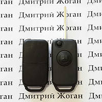 Выкидной ключ для MERCEDES W202, W210, C-class (Мерседес) корпус 1 - кнопка, лезвие HU64