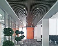 Потолок - кубообразная рейка (монтаж)
