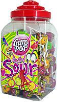 Леденцы на палочке+жвачка Argo Gum Pop Extra Sour (100шт.)