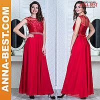 """Вечернее красное платье в пол """"Феодосия"""""""