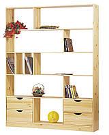 Стеллаж шкаф массив сосны, ширина: 146 см, высота: 193 см