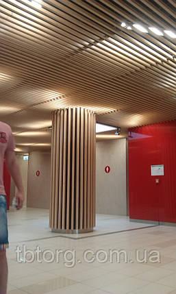 Деревянные реечные потолки из кубообразной рейки (монтаж), фото 2