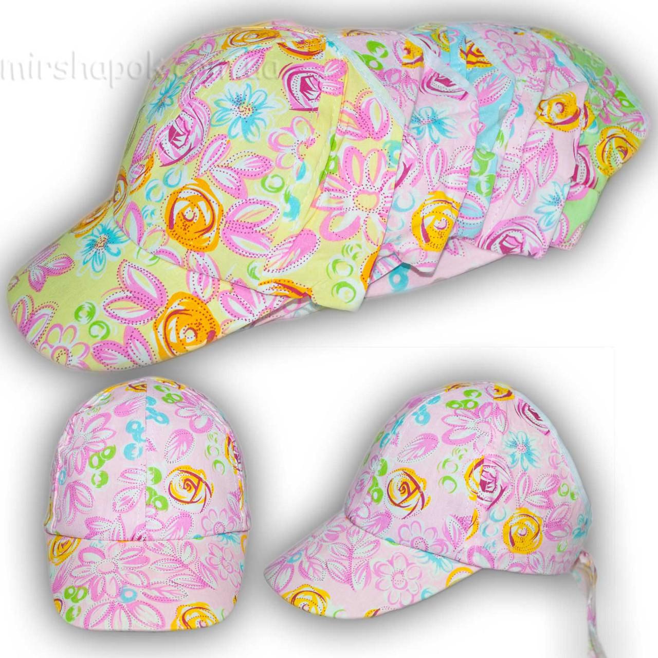 Детская кепка для девочек с отрытым верхом