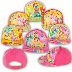 """ОПТ Кепка для девочек реперка с прямым козырьком """"Disney Princess"""" N 047_1 (5шт/упаковка)"""