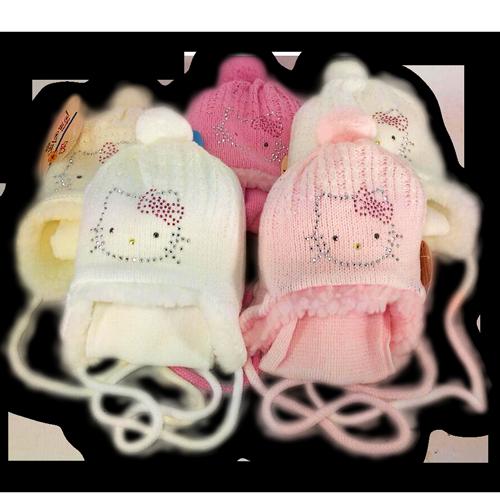 Комплект шапочка и шарф, Польского производителя PAOLA с подкладкой искусственный мех
