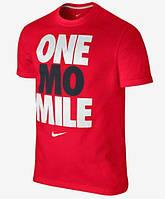 Стильная мужская футболка красная Nike One mo mile