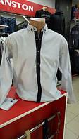 Рубашка мужская батал  Paul Smith белая стрейч-котон Турция