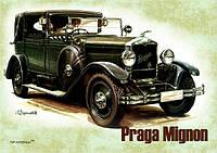 """Магніт вініловий """"Ретро автомобіль """"Praga Mignon"""" 50х70 мм"""