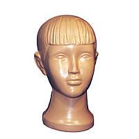 Манекен детская голова телесного цвета, фото 1