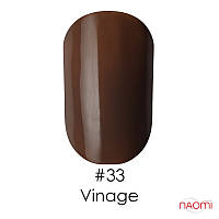 Гель-лак Naomi Gel Polish 33 - Vintage Brown, 6 мл