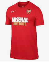 Стильная мужская футболка красная Nike Asenal Just do it