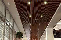 Потолок металлический реечный кубообразный (монтаж)