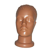 Манекен голова женская цвет бежевый без макияжа, фото 1
