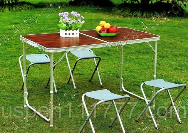 стол для пикника и 4 стула