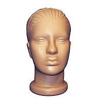 Манекен женская голова без макияжа телесного цвета, фото 1