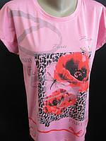 Женские футболки прямого фасона.