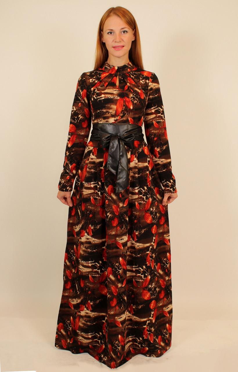 Длинное платье из ангоры 46-48 р