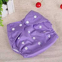 Многоразовый подгузник с сеткой Qianquhui фиолетовый