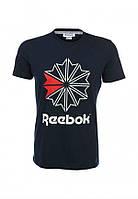 Модная мужская футболка черная Reebok