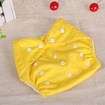 Многоразовые подгузники  Qianquhui желтый с флисом